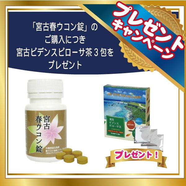宮古 春ウコン錠【宮古ビデンスピローサ茶3包プレゼント!】main