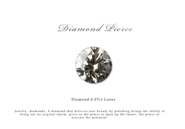 ネイルやプレゼントにおすすめ ダイヤモンド ルース 裸石 ダイヤモンド 0.07ct