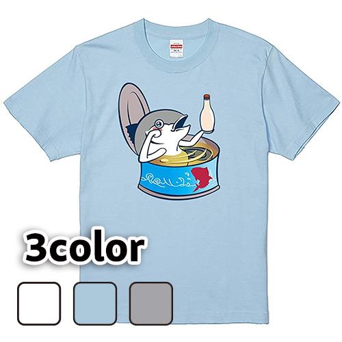 Tシャツ 半袖 大きいサイズ 5.6オンス 缶詰シリーズ ツナ/L 2L 3L 4L 5L 6L 7L/キングサイズ 翌日発送可