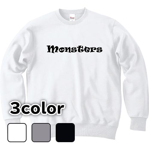 大きいサイズ メンズ クルーネックスウェット トレーナー MONSTERS(B) / S M L 2L 3L 4L 5L