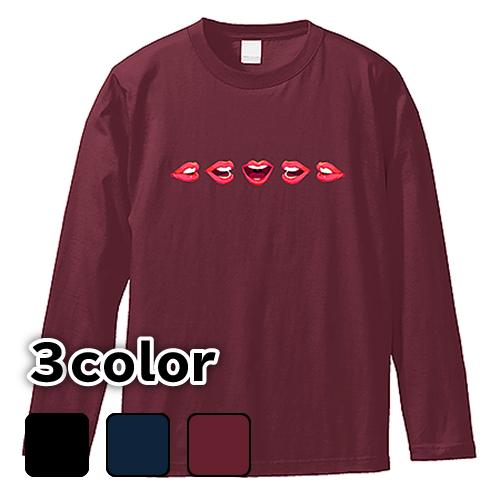 大きいサイズ メンズ ロンT 長袖Tシャツ Basic GLAMOROUS Lips / L 2L 3L 4L