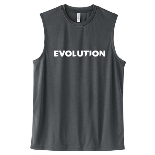 大きいサイズ メンズ ドライノースリーブ トレーニングウェア スポーツ ジム タンクトップ EVOLUTION/L 2L 3L