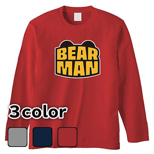 大きいサイズ メンズ ロンT 長袖Tシャツ BEARMAN / L 2L 3L 4L
