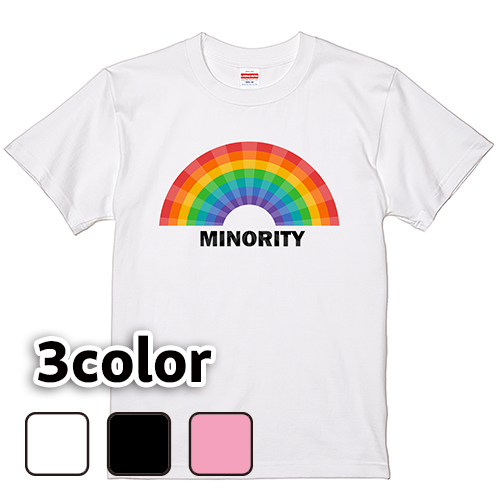 Tシャツ 半袖 大きいサイズ 5.6オンス MINORITY/L 2L 3L 4L 5L 6L 7L/キングサイズ 翌日発送可