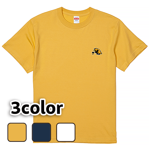 Tシャツ 半袖 大きいサイズ 5.6オンス たぬきとキノコ/L 2L 3L 4L 5L 6L 7L/キングサイズ 翌日発送可