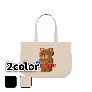 エコバッグ トートバッグ キャンバス/10L 15L/BLOCK BEAR