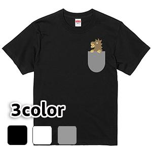 Tシャツ 半袖 大きいサイズ 5.6オンス ポケットの中のドラゴン/L 2L 3L 4L 5L 6L 7L/キングサイズ 翌日発送可