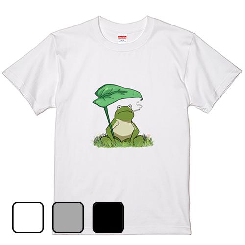 Tシャツ 半袖 大きいサイズ 5.6オンス のんびりカエル/L 2L 3L 4L 5L 6L 7L/キングサイズ 翌日発送可