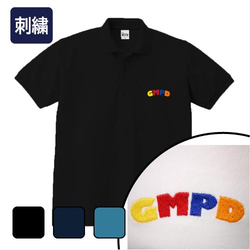 大きいサイズ メンズ ポロシャツ 半袖 刺繍 GMPD/L 2L 3L 4L 5L