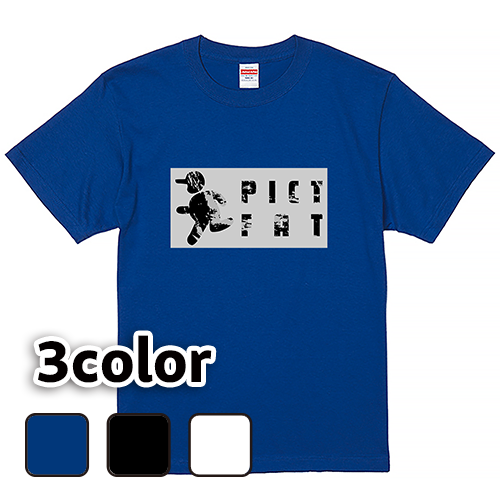 Tシャツ 半袖 大きいサイズ 5.6オンス ピクトファット/L 2L 3L 4L 5L 6L 7L/キングサイズ 翌日発送可