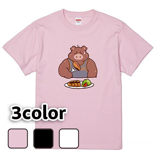 Tシャツ 半袖 大きいサイズ 5.6オンス TONKATSU/L 2L 3L 4L 5L 6L 7L/キングサイズ 翌日発送可