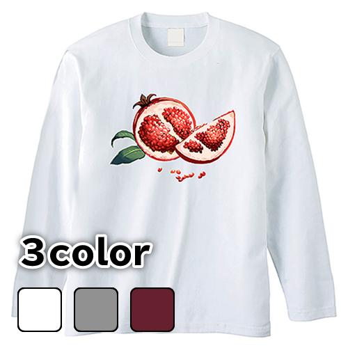 大きいサイズ メンズ ロンT 長袖Tシャツ ザクロ / L 2L 3L 4L