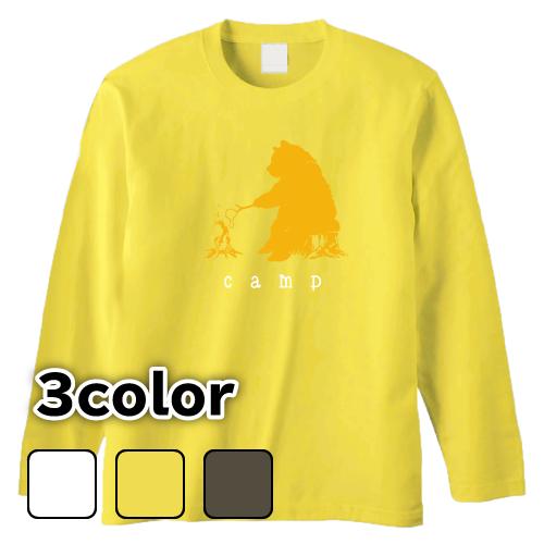大きいサイズ メンズ ロンT 長袖Tシャツ ベアキャンプ(マシュマロ) / L 2L 3L 4L