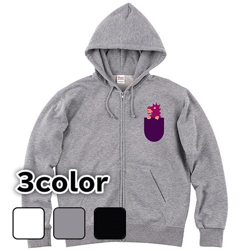 パーカー ジップアップ 大きいサイズ ポケットの中のドラゴン/S M L 2L 3L 4L 5L