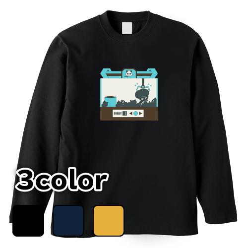 大きいサイズ メンズ ロンT 長袖Tシャツ デブキャッチャー / L 2L 3L 4L