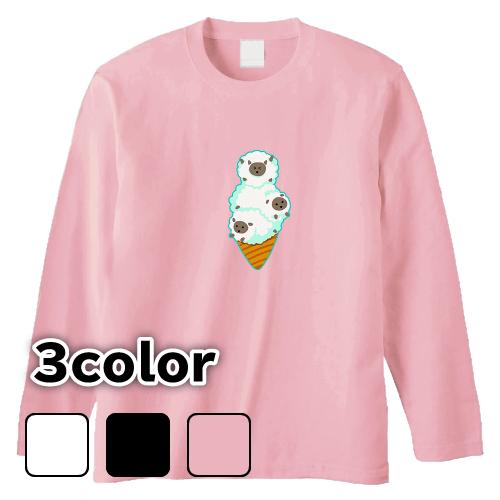 大きいサイズ メンズ ロンT 長袖Tシャツ ふわふわひつじソフト ゆるふわ / S M L 2L 3L 4L