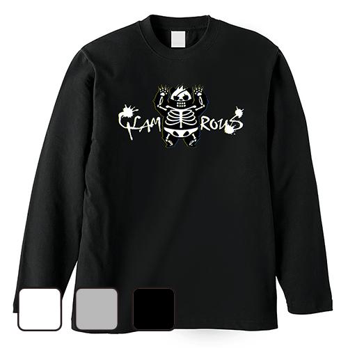 大きいサイズ メンズ ロンT 長袖Tシャツ メンズ グラパンSKELETON / S M L 2L 3L 4L