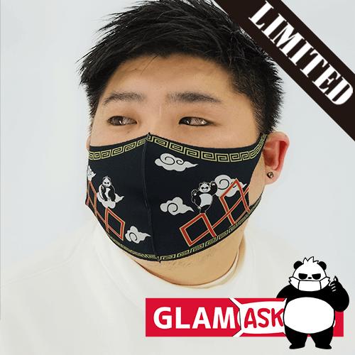 【数量限定】布マスク オリジナル グラパン 雷紋/翌日発送可