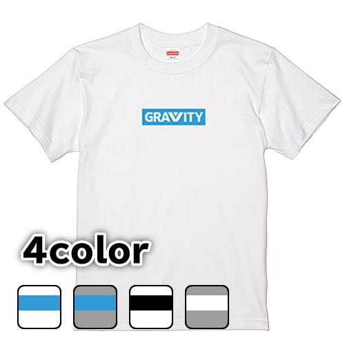 大きいサイズ メンズ Tシャツ GRAVITY ボックスロゴ / S M L 2L 3L 4L 5L 6L 7L / キングサイズ