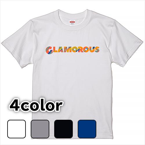 Tシャツ 半袖 大きいサイズ 5.6オンス GLAMOROUS カラフルロゴ/S M L 2L 3L 4L 5L 6L 7L/キングサイズ 翌日発送可