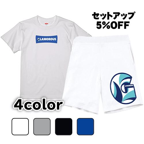 半袖Tシャツ ハーフパンツ セットアップ G BoxLogo & GLAMOROUS/L 2L 3L