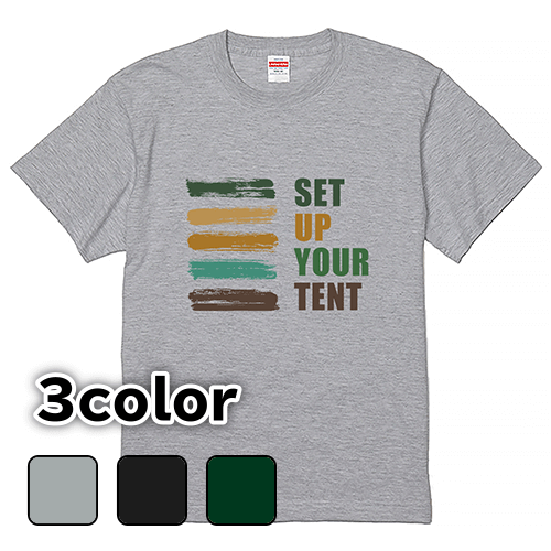 Tシャツ 半袖 大きいサイズ 5.6オンス SET UP YOUR TENT /L 2L 3L 4L 5L 6L 7L/キングサイズ対応 翌日発送可