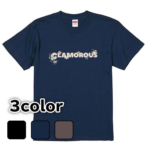 Tシャツ 半袖 大きいサイズ 5.6オンス GLAMOROUS Flower Logo/L 2L 3L 4L 5L 6L 7L/キングサイズ 翌日発送可