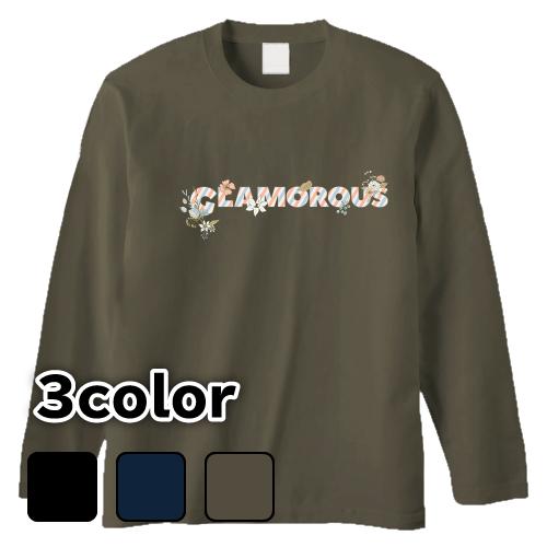 大きいサイズ メンズ ロンT 長袖Tシャツ GLAMOROUS Flower Logo / S M L 2L 3L 4L