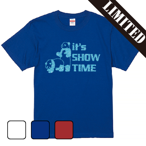 Tシャツ 半袖 大きいサイズ 5.6オンス GLITTER ショータイムパンダ/ L 2L 3L 4L 5L 6L 7L/キングサイズ