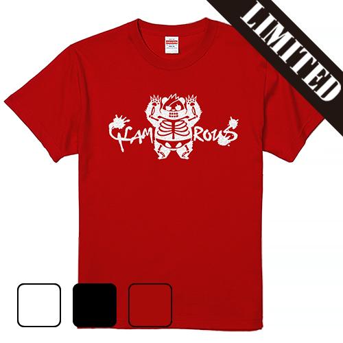 Tシャツ 半袖 大きいサイズ 5.6オンス GLITTER グラパンSKELETON/L 2L 3L 4L 5L 6L 7L/キングサイズ