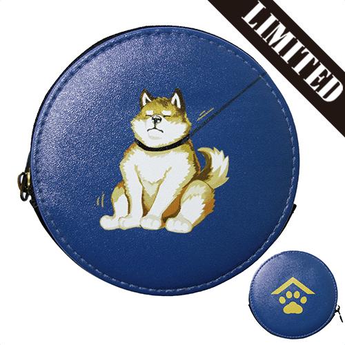 【数量限定】コインケース レザー 散歩から帰りたくない犬×犬家紋/翌日発送可
