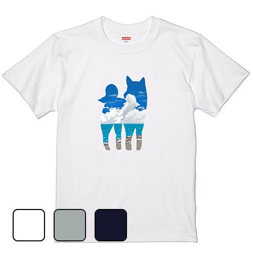 Tシャツ 半袖 大きいサイズ 5.6オンス 青空犬/L 2L 3L 4L