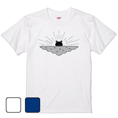 大きいサイズ メンズ Tシャツ 半袖 カエル夜明ケ / S M L 2L 3L 4L