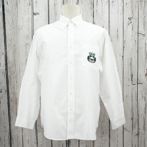 【数量限定】大きいサイズ メンズ オックスフォードシャツ(GUFFY) ホワイト PANDA(ワッペン)/ 3L