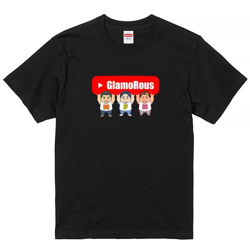 大きいサイズ メンズ Tシャツ 半袖 GLAMOROUS STORE チャンネル / S M L 2L 3L 4L