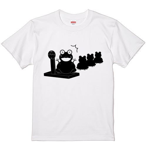 大きいサイズ メンズ Tシャツ 半袖 カエル体重測定 / S M L 2L 3L 4L
