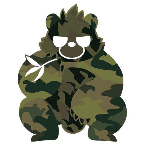 大きいサイズ メンズ カモフラパンダ