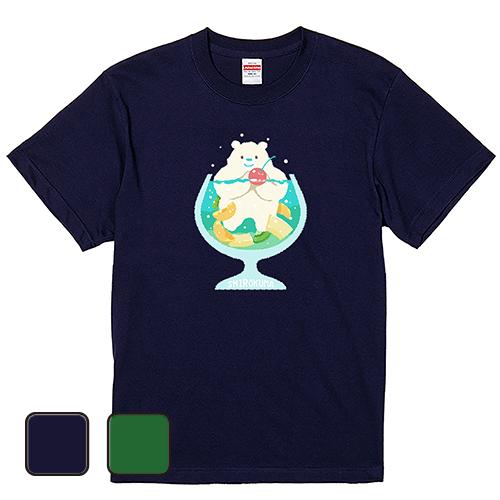 大きいサイズ メンズ Tシャツ 半袖 しろくまソーダ/ S M L 2L 3L 4L