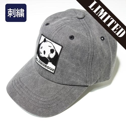 【数量限定】 大きいサイズ 刺繍 ワッペン GLAMOROUS EMBLEM PANDA LOGO キャップ 帽子