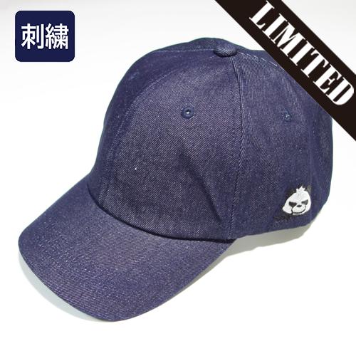 【数量限定】 大きいサイズ 刺繍 グラパン ワンポイント デニム キャップ 帽子