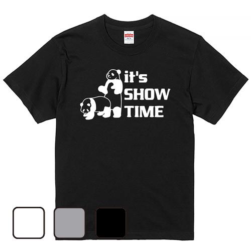 大きいサイズ メンズ Tシャツ 半袖  ショータイムパンダ/ S M L 2L 3L 4L