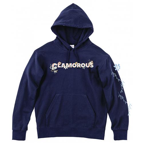 大きいサイズ メンズ GLAMOROUS Flower Logo Plus