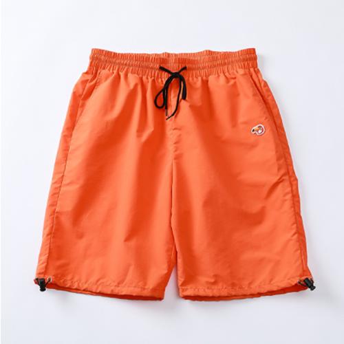 【1点限定】大きいサイズ メンズ ナイロンハーフパンツ スポーツショーツ オレンジ / 2L(XL)