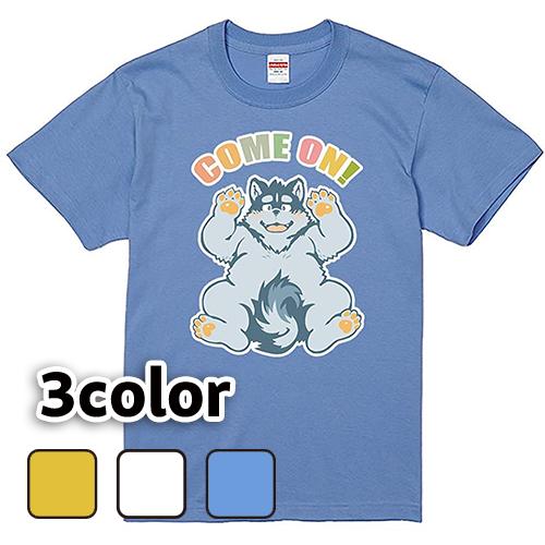 大きいサイズ メンズ Tシャツ 半袖 カモン犬(A) / S M L 2L 3L 4L /