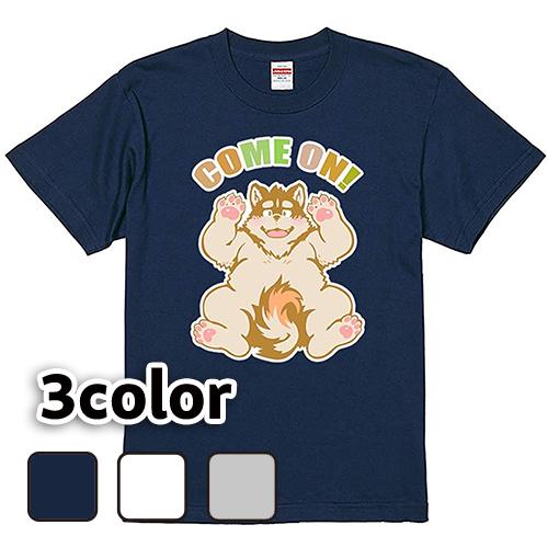 大きいサイズ メンズ Tシャツ 半袖 カモン犬(B) / L 2L 3L 4L / 翌日発送可