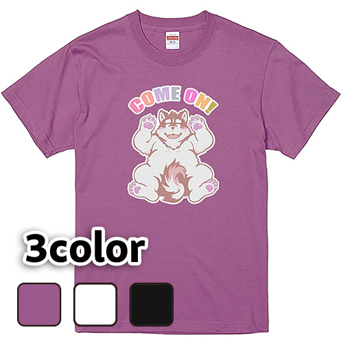 Tシャツ 半袖 大きいサイズ 5.6オンス カモン犬(C)/L 2L 3L 4L 5L 6L 7L/キングサイズ 翌日発送可