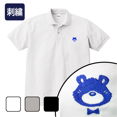 大きいサイズ メンズ ポロシャツ 半袖 刺繍 ジェントルクマ/L 2L 3L 4L 5L