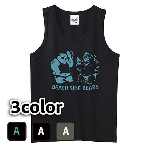 大きいサイズ メンズ タンクトップ Beach Side Bears / L 2L 3L 4L