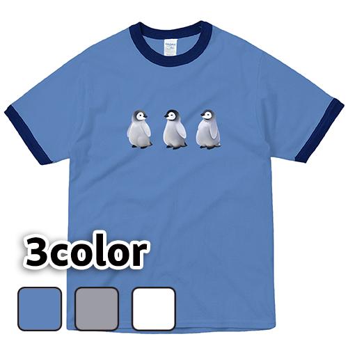 リンガーTシャツ 半袖 大きいサイズ 5.3オンス ペンギンキッズ/L 2L 3L