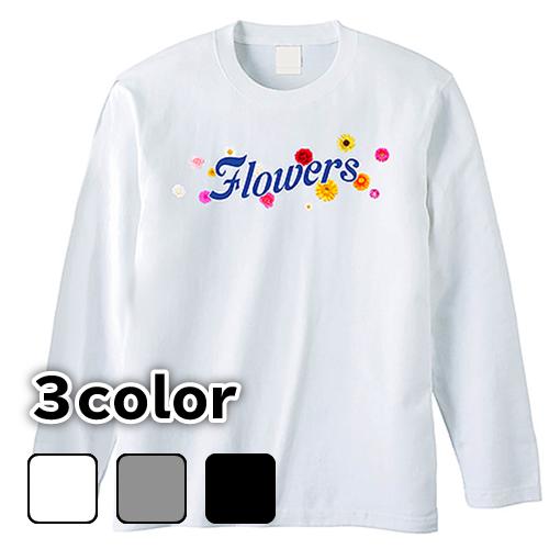 大きいサイズ メンズ ロンT 長袖Tシャツ Flowers / S M L 2L 3L 4L